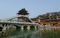 Old town of phoenix fenghuang ancient town the the popular tourist attraction which is located in county hunan china Royalty Free Stock Photography