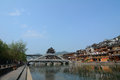 Old town of phoenix fenghuang ancient town the the popular tourist attraction which is located in county hunan china the Royalty Free Stock Photography