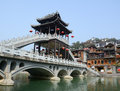 Old town of phoenix fenghuang ancient town view the huang bridge in the popular tourist attraction which is located in Stock Photos