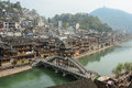 Old town of phoenix fenghuang ancient town view the the popular tourist attraction which is located in county hunan Royalty Free Stock Photography