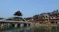 Old town of phoenix fenghuang ancient town view the popular tourist attraction which is located in county hunan china Stock Photos