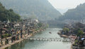 Old town of phoenix fenghuang ancient town view the popular tourist attraction which is located in county hunan china Royalty Free Stock Photography