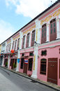 The old town phuket chino portuguese style s low key attractions are mostly related to its colourful chinese history and heritage Royalty Free Stock Image