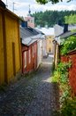 Old town of porvoo finland Royalty Free Stock Photography