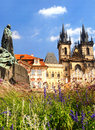 Old town in Prague. Royalty Free Stock Photos