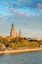 Old town riga and daugava s the river latvia Stock Photography