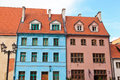Old town of riga residential houses in latvia Royalty Free Stock Images