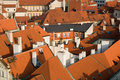 Old Town Roofs Stock Images