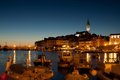 The old town in Rovinj at sunset Royalty Free Stock Photo