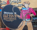 Old town scottsdale arizona aug the welcome to sign in arizona on august the is the main tourist Royalty Free Stock Photos