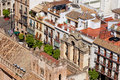 Old town of seville in spain historic architecture on the first plan part the cathedral Royalty Free Stock Photography