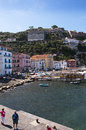 The old town of sorrento marina grande is fishing village Stock Images