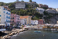 The old town of sorrento marina grande is fishing village Royalty Free Stock Photography
