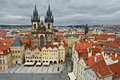 The Old Town Square in the center of Prague Stock Photography