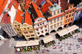 Old town square prague aerial view of czech republic Stock Photos