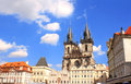 Old town square tyn church prague Royalty Free Stock Images