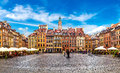 Old town square in Warsaw Royalty Free Stock Photo