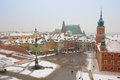 Old town square in winter, Warsaw, Poland Royalty Free Stock Images