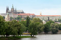 Old town stare maestro prague czech republic europe castle vltava river Stock Photography