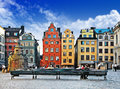 Old town stockholm colorful of Royalty Free Stock Images
