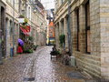 Old Town Street in Lille on a Rainy Day, France Royalty Free Stock Photo