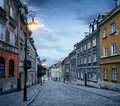Old town street in Warsaw Royalty Free Stock Photo