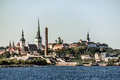 Old town of tallinn estonia view from the sea over the capital Stock Image