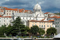 Old town a view of an in croatia europe Royalty Free Stock Images