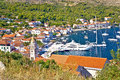 Old town of Vis yachting waterfront Royalty Free Stock Photo
