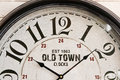 Old town wall clock face Royalty Free Stock Photo