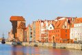 Old town waterfront gdansk poland Royalty Free Stock Photos