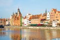Old town waterfront gdansk in poland Stock Photography