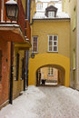 Old town in winter, Warsaw, Poland Stock Images