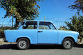 Old trabant car is an that was produced by former east german since Royalty Free Stock Photos