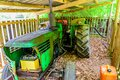 An old tractor on the farm Royalty Free Stock Photo