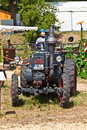 Old tractors at the hessentag oberursel germany june on june in oberursel germany is a big festival to present a city in Royalty Free Stock Photography