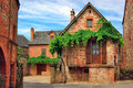 Old traditional French house. Collonges La Rouge Royalty Free Stock Photo