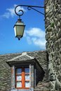 Old traditional French house with lantern.Salers Stock Photos