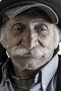 Old traditional lebanese man with mustache Stock Photo