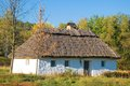 Old traditional rural house in pirogovo ukraine Royalty Free Stock Photos