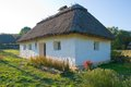 Old traditional rural house in pirogovo ukraine Royalty Free Stock Photography