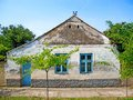 Old traditional village house in Banat, district Vojvodina in Serbia