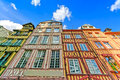 Old traditional wooden facades rouen normandy france europe Stock Photos