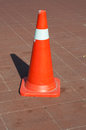 Old traffic cone raffic cones also called pylons road cones highway cones safety cones witch s hat or construction cones are Royalty Free Stock Photo
