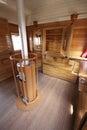 Old train bar wagon interior Royalty Free Stock Photo