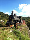 Old train historical steam in open museum place jablanica Stock Photo