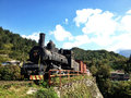 Old train historical steam in open museum place jablanica Royalty Free Stock Photo