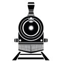 Old train icon Royalty Free Stock Photo