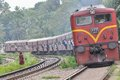 Old train passing wattala srilankan runing on main line in srilanka srilanka on t june Royalty Free Stock Photo