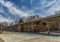 Old train station a in montreal quebec west area Royalty Free Stock Photo